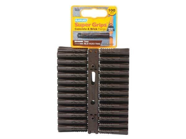 SBP 503 Solid Wall Super Grips™ Fixings Brown (100)