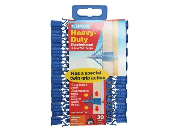 HCF 553 Heavy-Duty Plasterboard Fixings Pack of 30