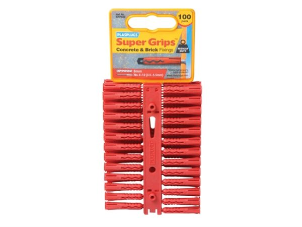SRP 502 Solid Wall Super Grips™ Fixings Red (100)