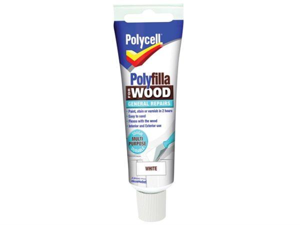 Polyfilla For Wood General Repairs Tube White 75g