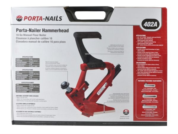 Angled Floor Nailer With Mallet In Case