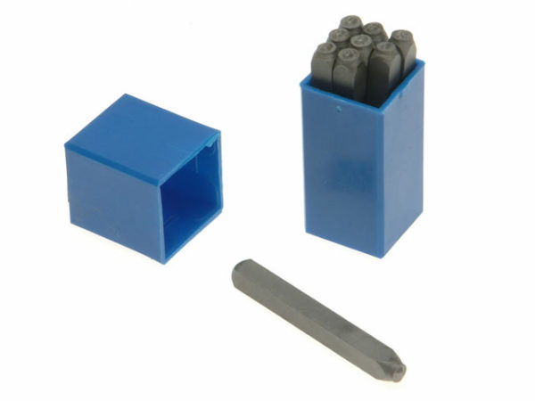180- 12.0mm Set of Number Punches 1/2in