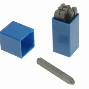 180- 10.0mm Set of Number Punches 3/8in