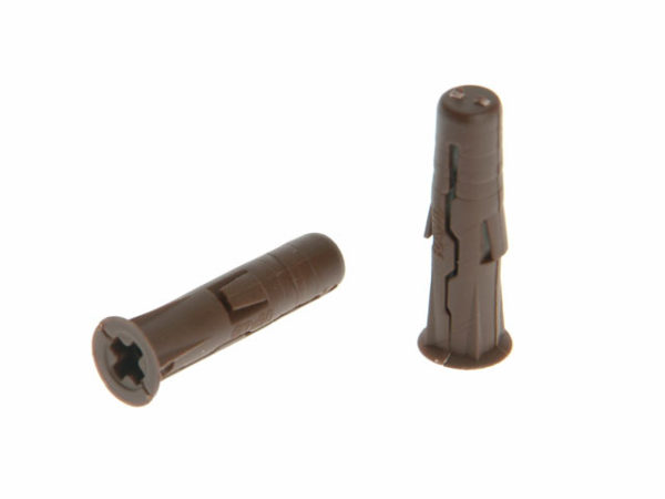 Brown UNO® Plugs 7 x 30mm (Card 96)