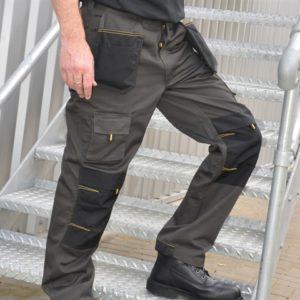Black & Grey Holster Work Trousers Waist 36in Leg 31in