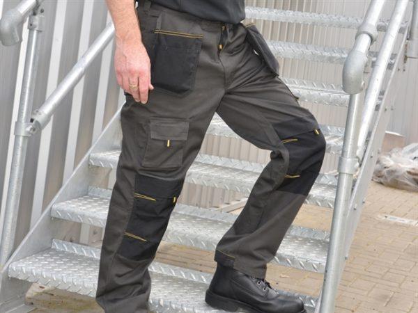 Black & Grey Holster Work Trousers Waist 38in Leg 31in