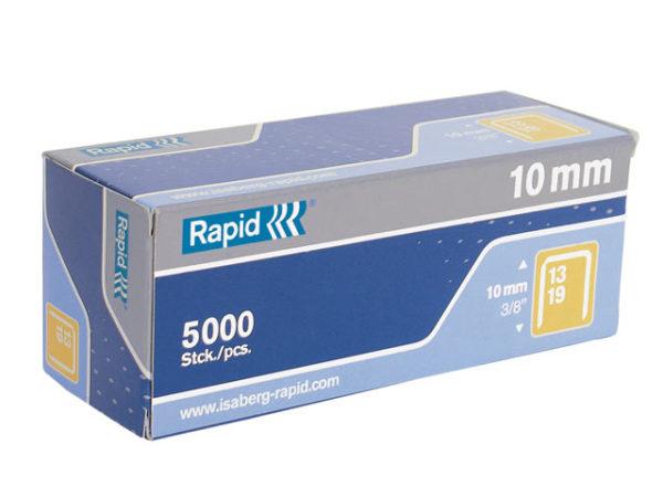 13/10 10mm Galvanised Staples Box 5000