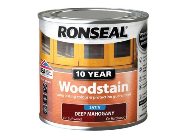 10 Year Woodstain Deep Mahogany 250ml