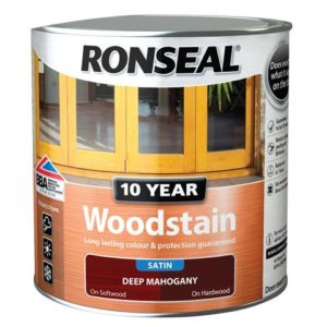 10 Year Woodstain Deep Mahogany 2.5 litre