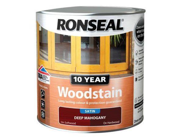 10 Year Woodstain Deep Mahogany 2.5 litre