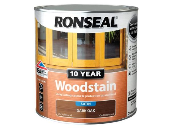 10 Year Woodstain Dark Oak 2.5 litre