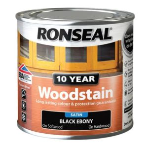 10 Year Woodstain Ebony 250ml