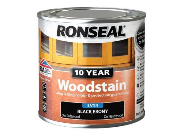 10 Year Woodstain Ebony 250ml