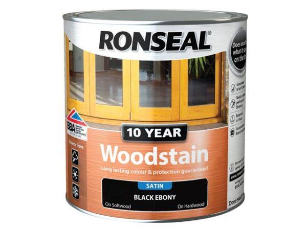 10 Year Woodstain Ebony 2.5 litre