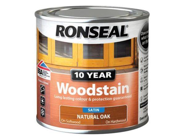10 Year Woodstain Natural Oak 250ml