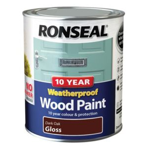 10 Year Weatherproof Wood Paint Dark Oak Gloss 750ml