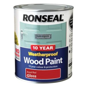 10 Year Weatherproof Wood Paint Royal Red Gloss 750ml