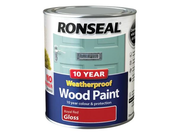 10 Year Weatherproof Wood Paint Royal Red Gloss 750ml