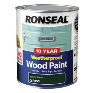 10 Year Weatherproof Wood Paint Racing Green Gloss 750ml