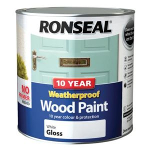 10 Year Weatherproof Wood Paint White Gloss 2.5 litre