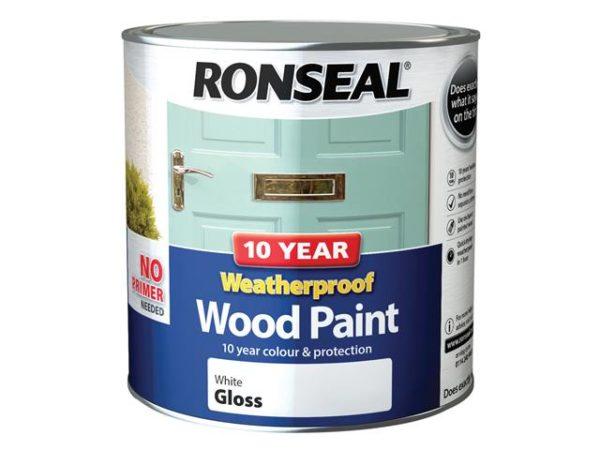 10 Year Weatherproof Wood Paint White Gloss 2.5 litre