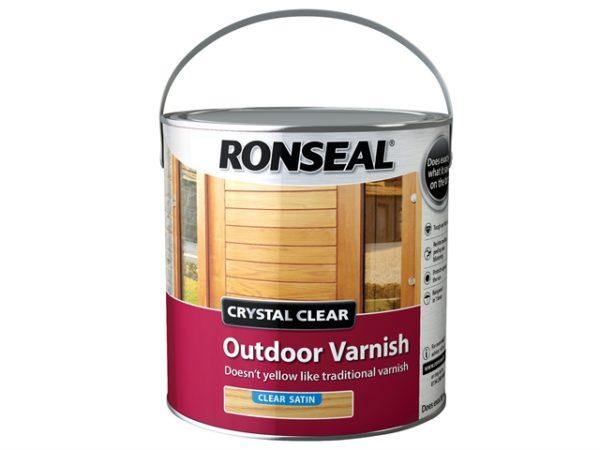 Crystal Clear Outdoor Varnish Satin 2.5 litre