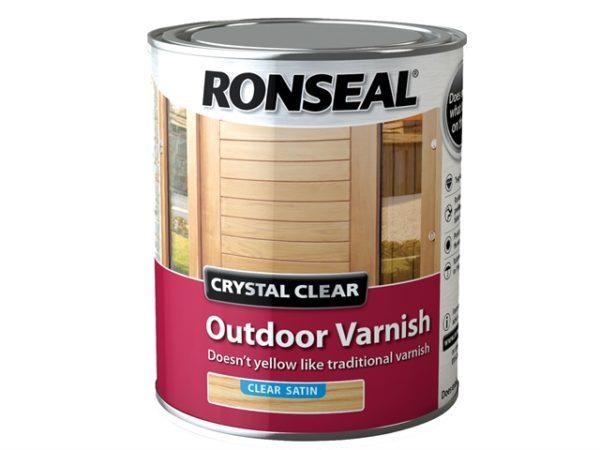 Crystal Clear Outdoor Varnish Satin 750ml