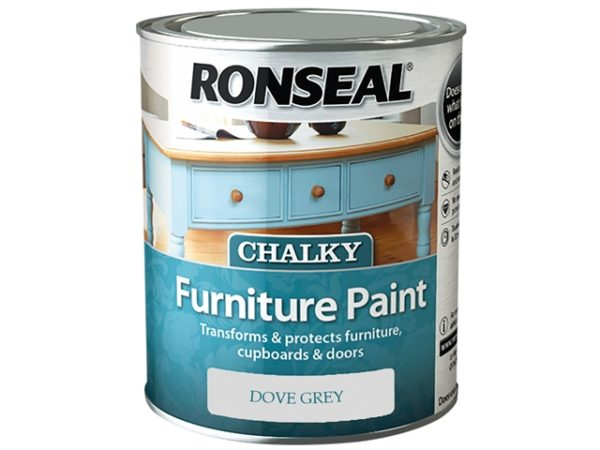 Chalky Furniture Paint Dove Grey 750ml