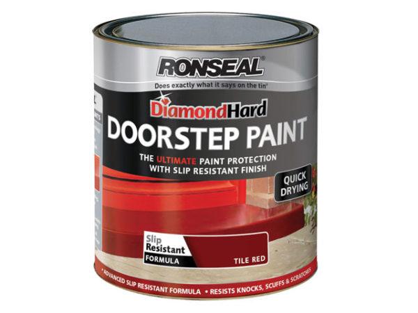 Diamond Hard Doorstep Paint Tile Red 750ml