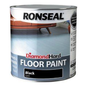 Diamond Hard Floor Paint Black 2.5 Litre