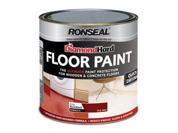 Diamond Hard Floor Paint White 2.5 Litre