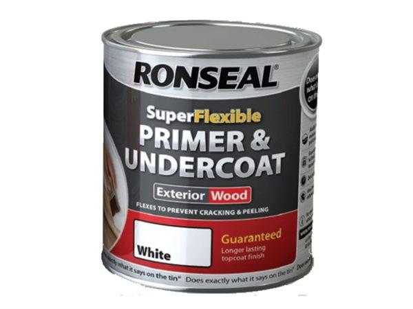 Super Flexible Wood Primer & Undercoat White 750ml