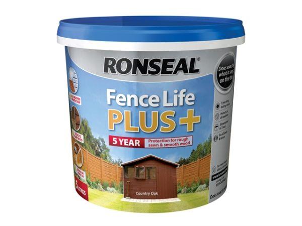 Fence Life Plus+ Country Oak 5 Litre