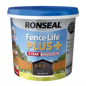 Fence Life Plus+ Tudor Black Oak 5 Litre