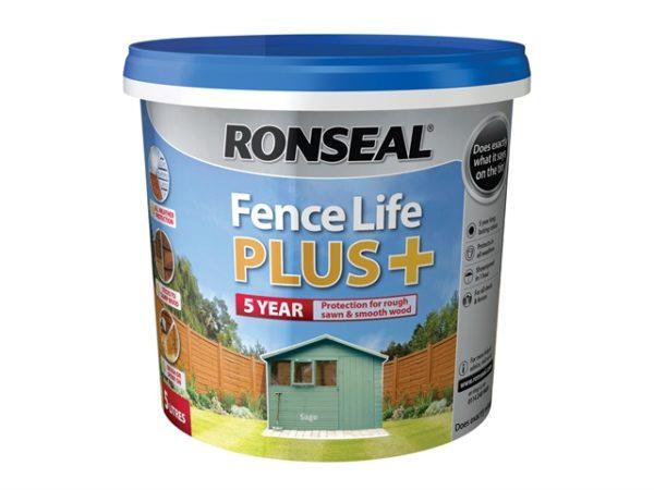 Fence Life Plus+ Sage 5 Litre