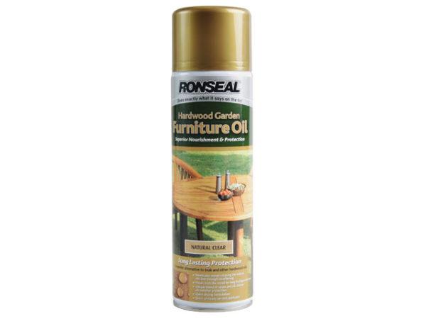 Hardwood Garden Furniture Oil Natural Clear Aerosol 500ml