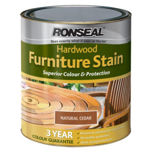 Ultimate Protection Hardwood Garden Furniture Stain English Oak 750ml