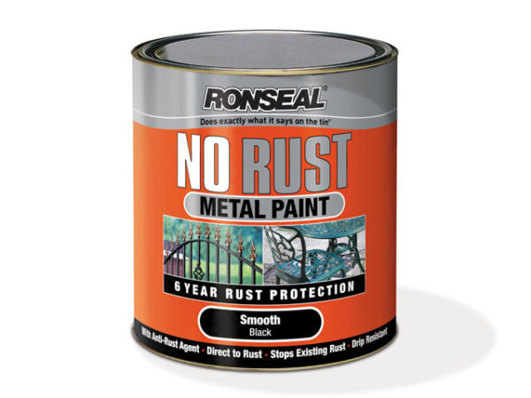 No Rust Metal Paint Smooth Silver 250ml