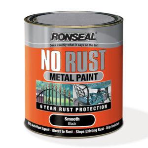 No Rust Metal Paint Smooth Black 250ml