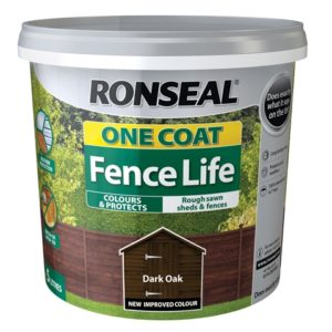 One Coat Fence Life Dark Oak 5 Litre