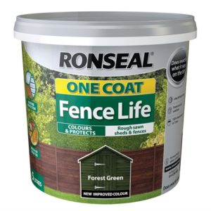 One Coat Fence Forest Green 5 Litre