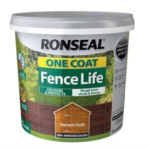 One Coat Fence Life Harvest Gold 5 Litre