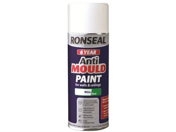 6 Year Anti Mould Aerosol White Matt 400ml
