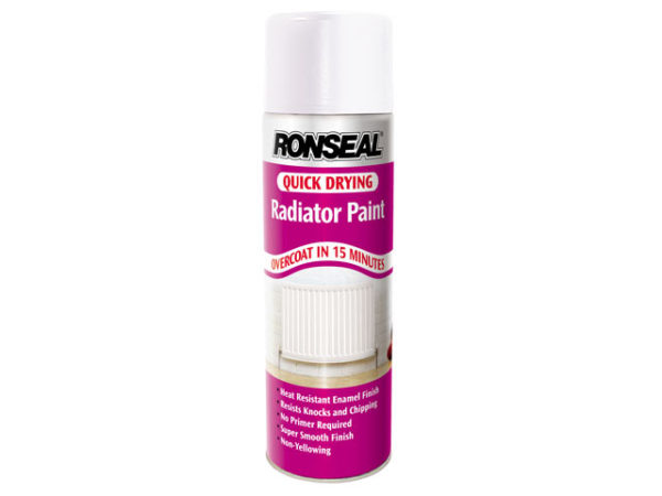 One Coat Radiator Spray Paint Satin White 400ml
