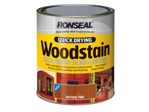 Quick Drying Woodstain Satin Ebony 250ml
