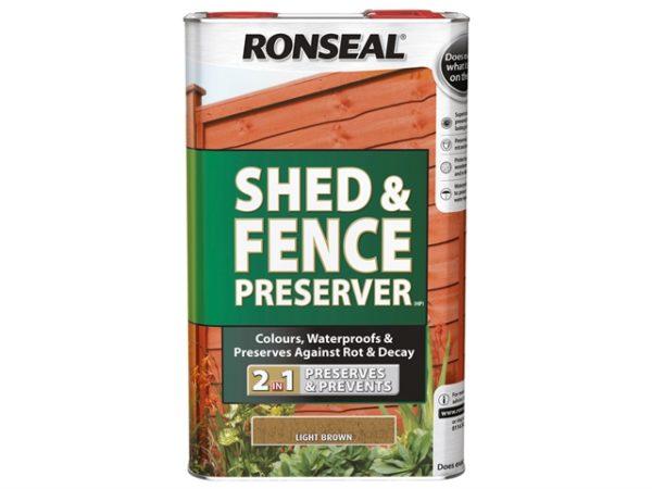 Shed & Fence Preserver Light Brown 5 Litre