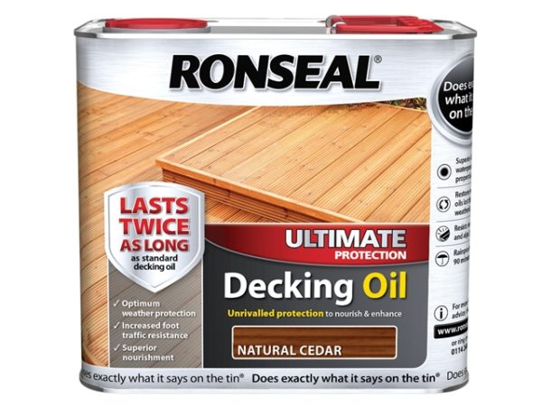 Ultimate Decking Oil Natural Cedar 2.5 Litre