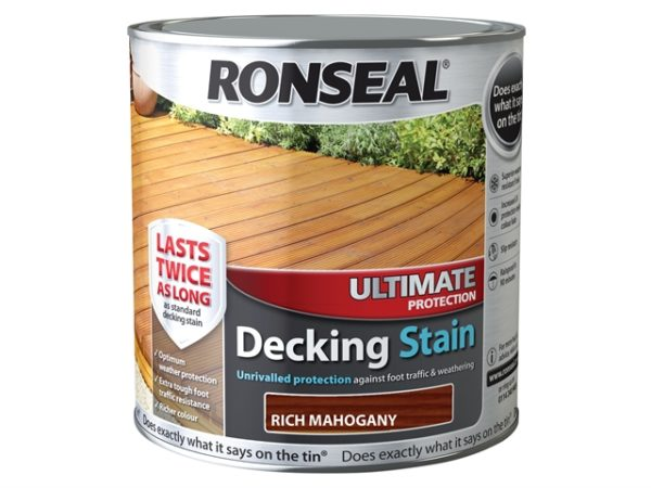 Ultimate Protection Decking Stain Rich Mahogany 2.5 Litre