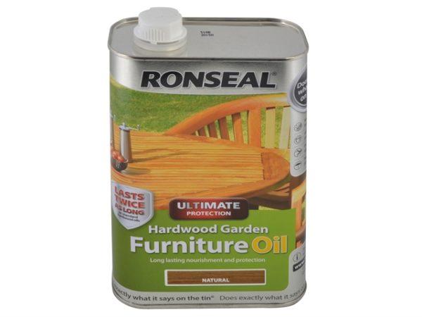 Ultimate Protection Hardwood Garden Furniture Oil Natural 1 litre