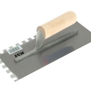 Notched Trowel 10mm Square Notches Wooden Handle 11 x 4.1/2in